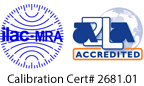 A2LA Accredited – Calibration Cert #2681.01